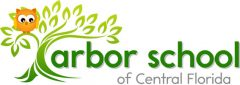 Logo for Arbor School of Central Florida, with orange owl in a green tree.