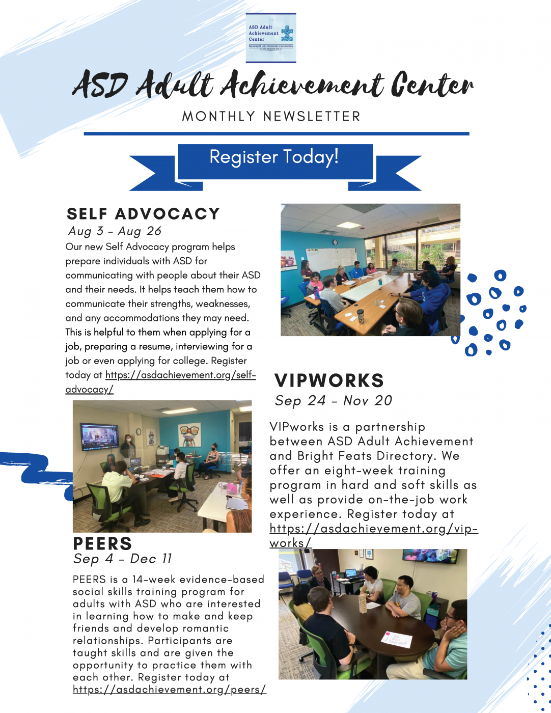 Fall 2020 programs at ASD Adult Achievement Center