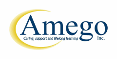 Logo for Amego Inc. Caring, support and lifelong learning.