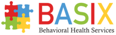 Logo for BASIX Behavioral Health Services.