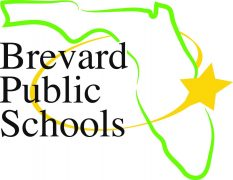 Brevard Public Schools logo with a star spinning around the state of Florida