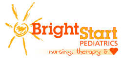 Logo for Bright Start Pediatrics. Nursing, Therapy and love.