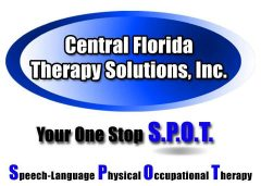 Logo for Central Florida Therapy Solutions, Inc. Your One Stop SPOT. Speech-Language Physical Occupational Therapy.