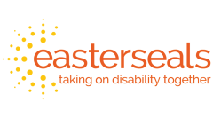 Easterseals Logo. Taking on disability together.