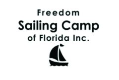Logo for Freedom Sailing Camp of Florida Inc. with silhouette of a sailboat.