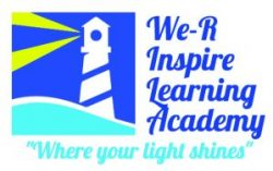 Logo for We-R Inspire Learning Academy. Where your light shines.