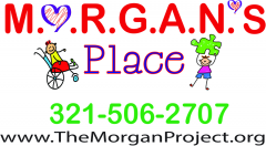 Logo for Morgan's Place. 321-506-3707. www.TheMorganProject.org.