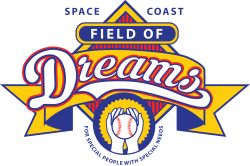 Logo for Space Coast Field of Dreams. For special people with special needs.