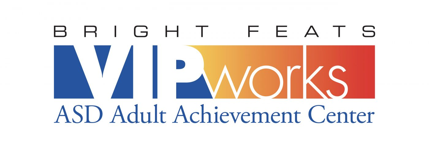 Logo for Bright Feats VIPworks at the ASD Adult Achievement Center
