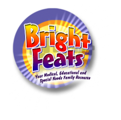 Bright Feats Button logo