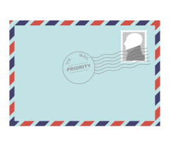 picture of an envelope with a stamp on it