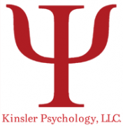 Logo for Kinsler Psychology, LLC. with a red trident.