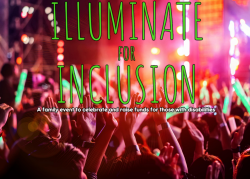 Logo for Illuminate for Inclusion. A family event fundraiser.