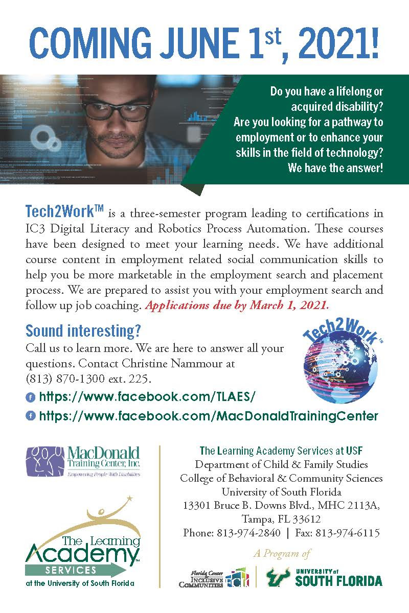 The Learning Academy Services Tech2Work Ad