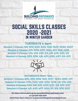 Building Pathways social skills classes ad