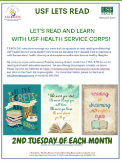 A USF Health poster discussing about reading and learning