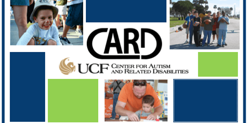 A social post featuring UCF and showing 3 pictures one with a happy little boy the other showing a group of holding basketballs and the last picture showing a man helping out his son with something