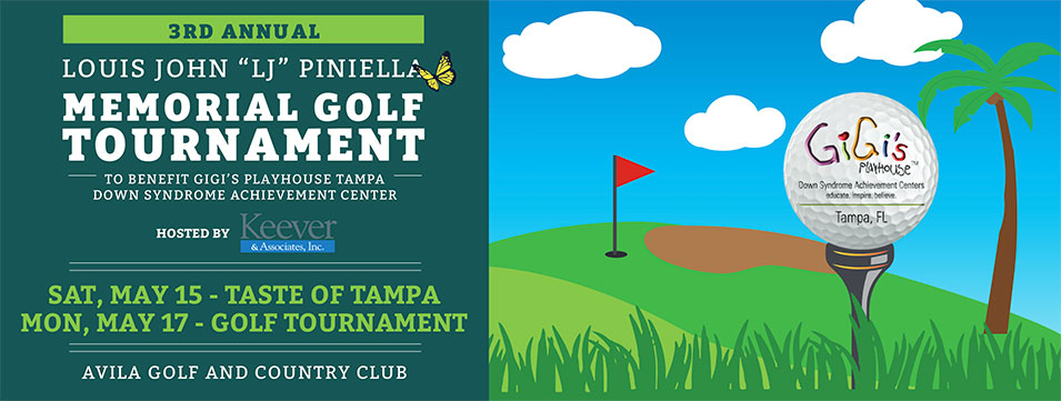 Ad for 3rd annual memorial golf tournament. For avila golf and country club.